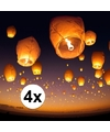 4 x Thaise wensballon 50 x 100 cm