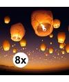 8 x Thaise wensballon 50 x 100 cm