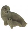 Dieren tuindecoratie zeehondje 11 cm