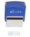 Blauwe stempel FB like