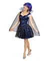 Blauwe feeen jurk met cape