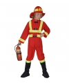 Brandweerpak carnavalskleding voor kidneren rood