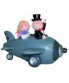 Spaarpotje bruid en bruidegom in vliegtuig