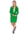 St. Patricks thema groen mantelpakje