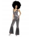 Carnavalskleding Zilver disco kostuum voor dames