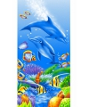 Kinderhanddoek dolfijn 75 x 150 cm