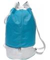 Blauwe duffel sporttas met trekkoord 59 cm