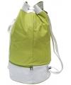 Groene duffel sporttas met trekkoord 59 cm
