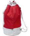 Rode duffel sporttas met trekkoord 59 cm