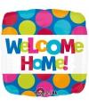 Gekleurde folie ballon welkom thuis 43 cm