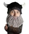 Beard Head Viking muts met grijze baard