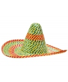 Feestartikelen gekleurde sombrero 50 cm
