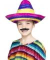 Feestartikelen gekleurde sombrero voor kinderen
