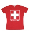 Dames shirt Get Laid Kit rood