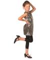 Carnavalskleding Glitter jurk zilver meisjes