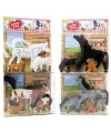 Paarden speelgoed grijs paard met veulen en hond