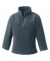Basic fleece sweater grijs met zakken voor jongens