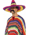 Feestartikelen Grote gekleurde sombrero