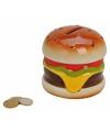 Spaarpot hamburger polystone 10 cm