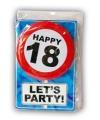 18 jaar verjaardagskaart met button