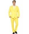 Business suit yellow print