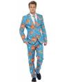 Fun kostuum heren met goudvis print