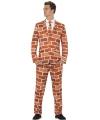 Fun kostuum heren muren print