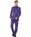 Business suit Purple print
