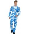 Fun kostuum heren met bewolkte print