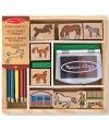 Speelgoed stempelset paarden