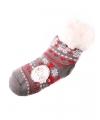 Huis/bank sokken grijs/rood voor kids