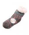 Huis/bank sokken grijs/roze voor kids