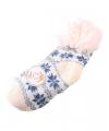 Huis/bank sokken wit/blauw voor kids