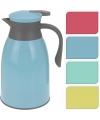 Thermosfles voor koffie blauw/grijs 1 liter