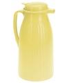 Thermosfles voor koffie geel 1 liter