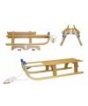 Kinderspeelgoed Luxe houten slee opvouwbaar