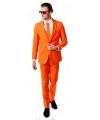 Feestartikelen Oranje kostuum inclusief stropdas
