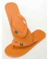 Heren teenslippers in de kleur oranje