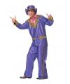 Carnavalskleding Paars funky kostuum voor heren