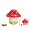 Spaarpot keramieken paddenstoel 13 cm