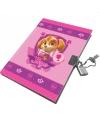 Roze Paw Patrol dagboek voor kinderen