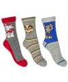 Paw Patrol grijze sokken 3 paar