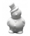 3D sneeuwpop van piepschuim 17 cm
