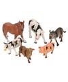 Kinderspeelgoed Boerderij dieren 6 stuks