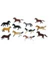 Klein speelgoed paardje plastic 6 cm