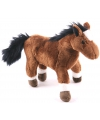 Zachte paarden knuffels bruin 19 cm