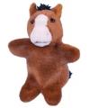 Knuffeldier pluche paard handpop 28 cm