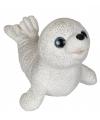 Kinder knuffel zeehond met glitters 26 cm