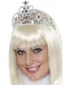Feestartikelen Prinsessen tiara zilver