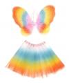 Carnavalskleding Regenboog fee set voor kinderen